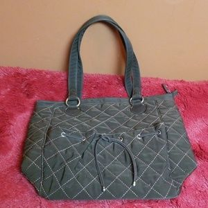 Vera Bradley brown quilted large shoulder bag